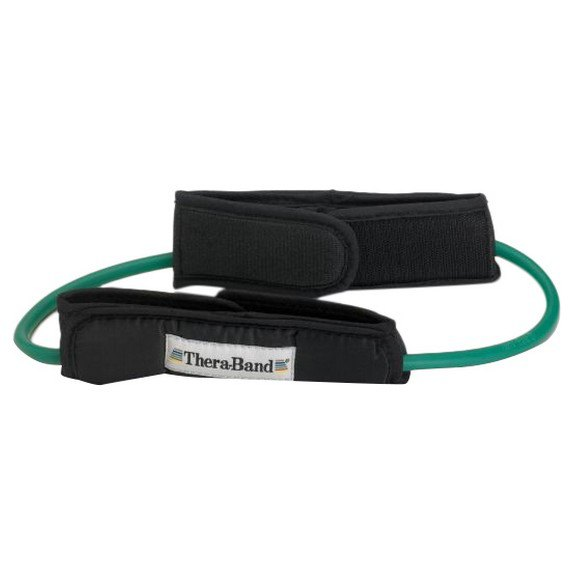 Theraband Tubing Loop Padded Cuffs 140 cm Green
