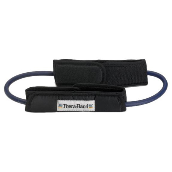 Theraband Tubing Loop Padded Cuffs 140 cm Blue