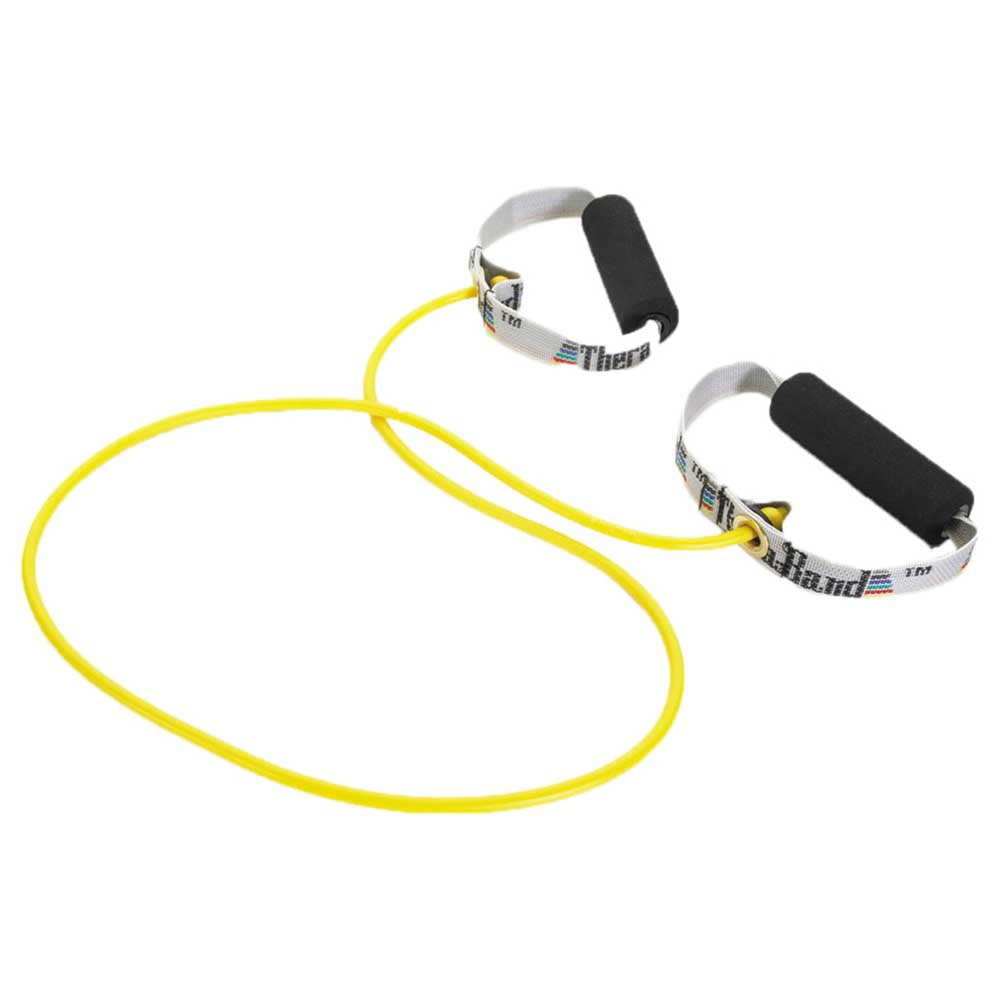 Theraband Tubing With Handles Soft 140 cm Yellow