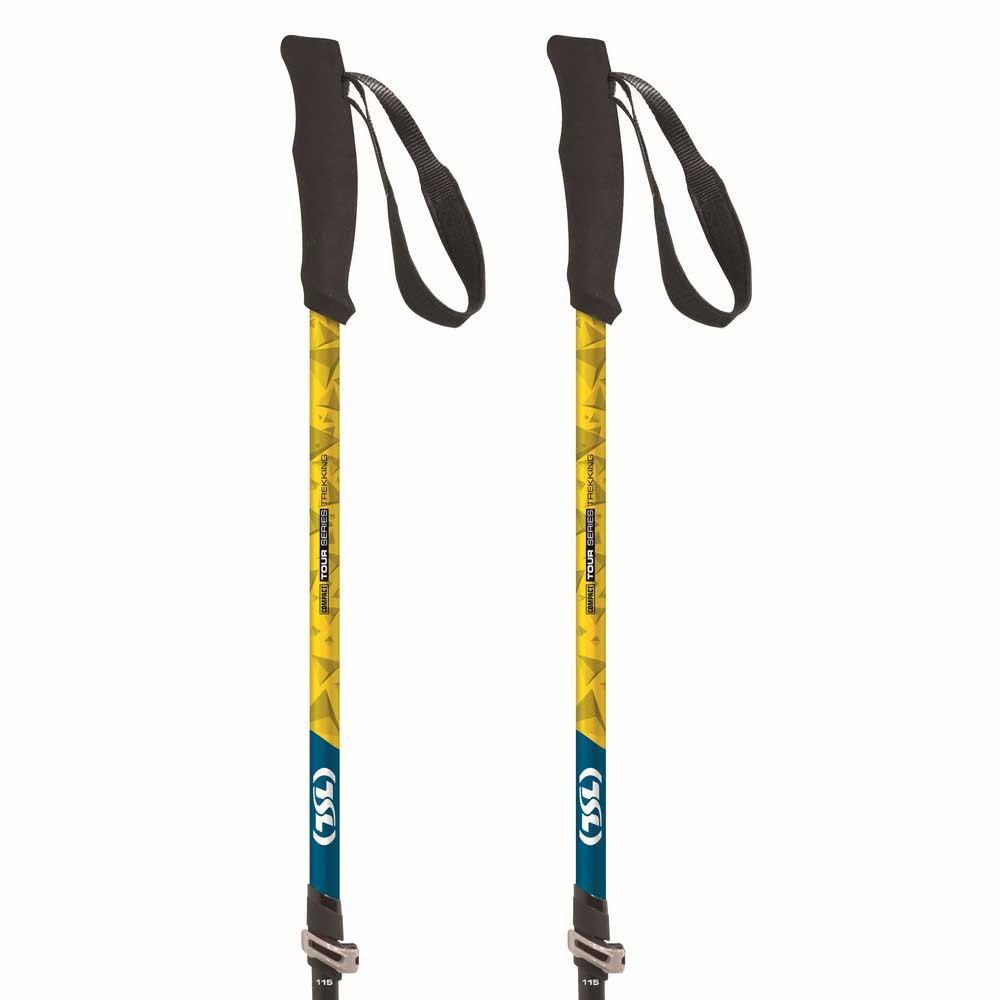Tsl Outdoor Tour Carbon Compact 3 Light Twist 62-125 cm Black / Yellow / Blue