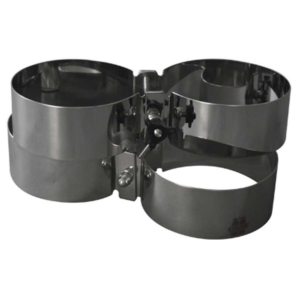 Oms Style Tank Bands For Twinsets 140 mm 5/7/8.5 Grey Gurte, Schellen, Halterungen Style Tank Bands For Twinsets 140 Mm 5/7/8.5 L