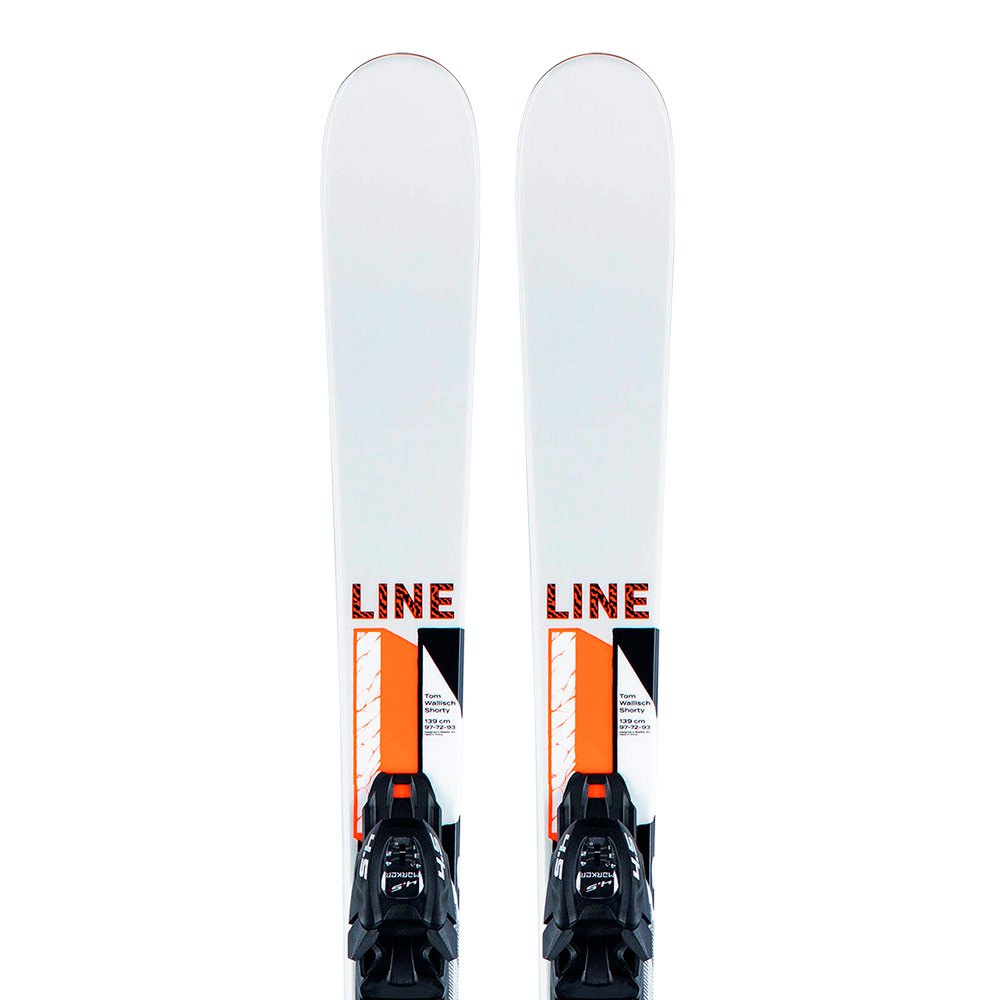 Line Tom Wallisch Shorty Alpine Skis 129 White / Black