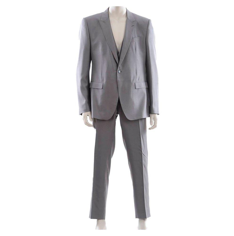 Dolce & Gabbana 730935 1 Button Suit 54 Grey