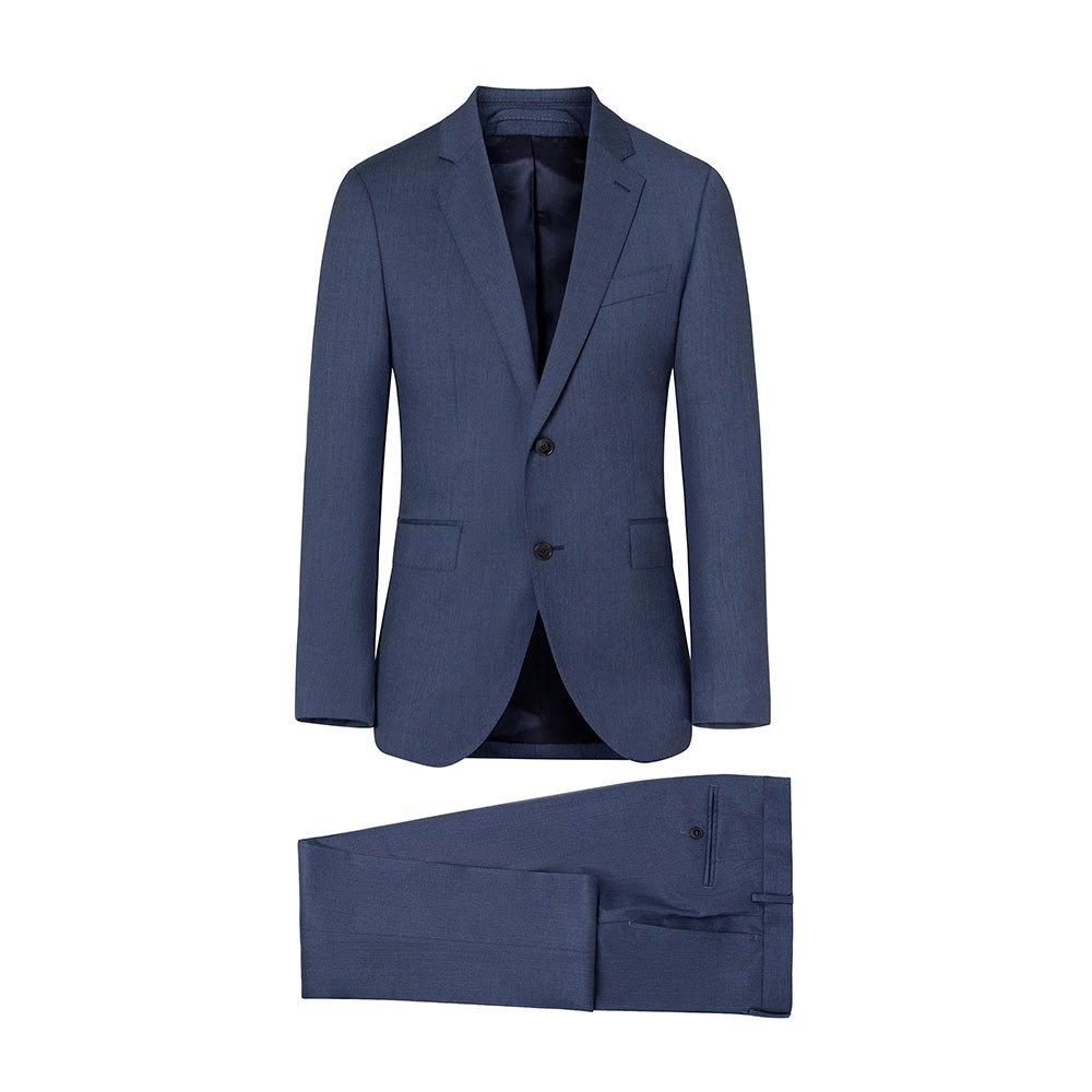 Hackett Plain Wool Twill B 40 Blue