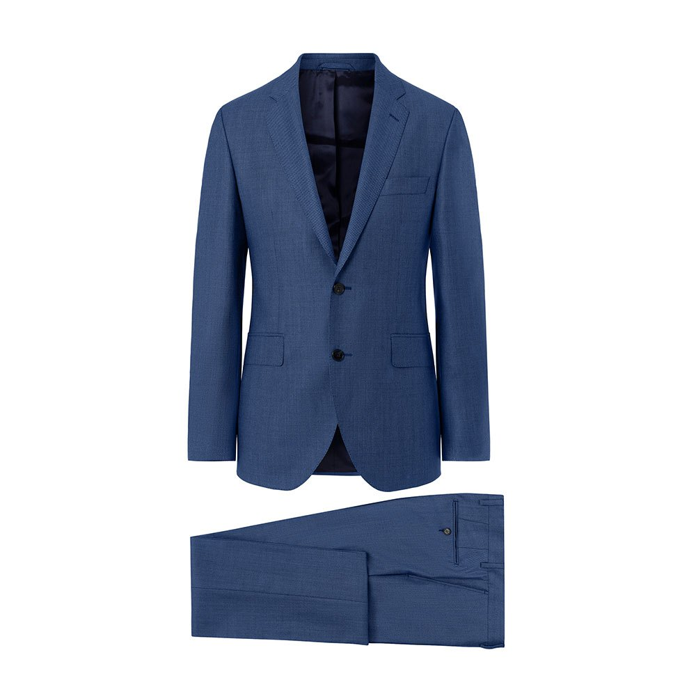 Hackett Wool Birdseye B 40 Bright Blue