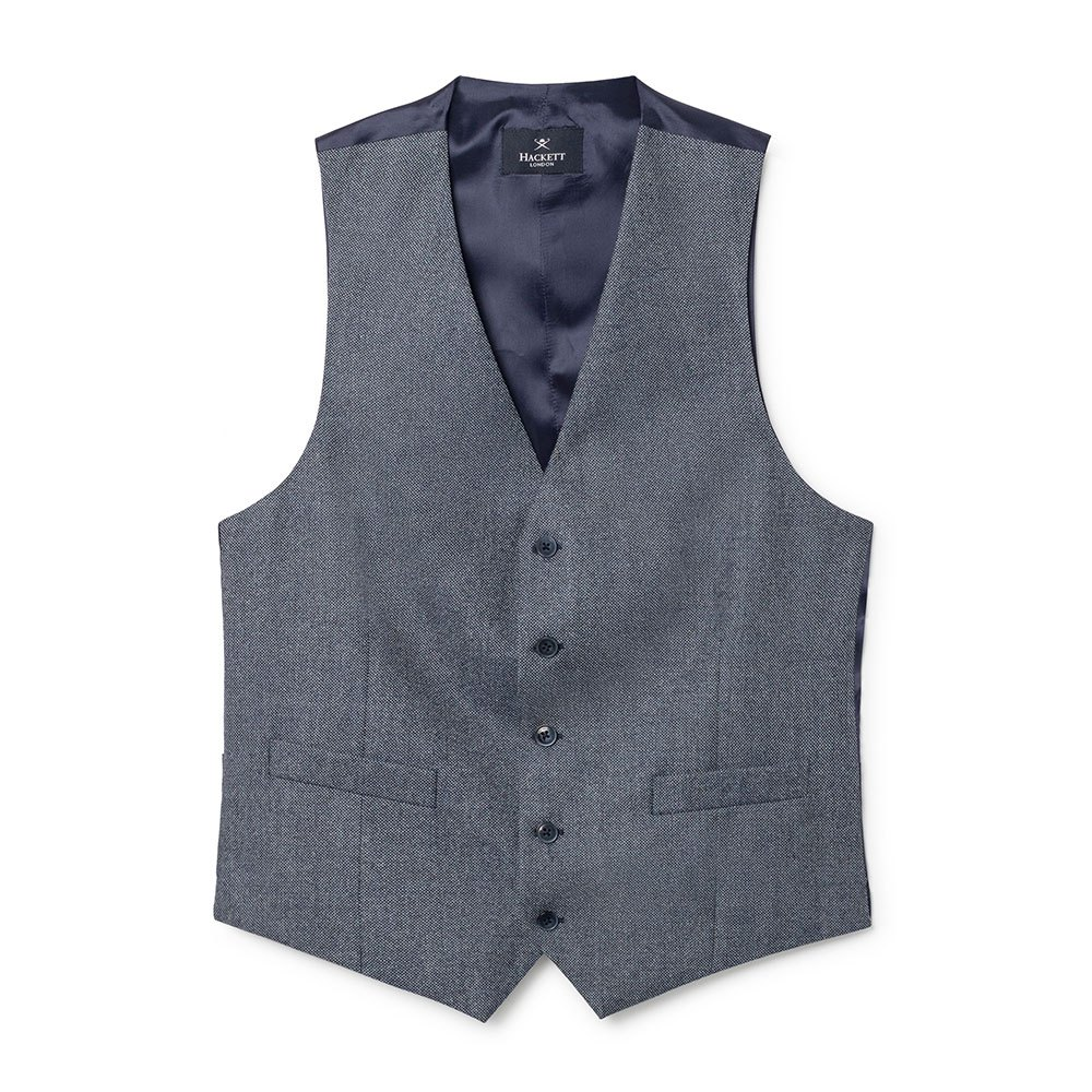 Hackett Brushed Birdseye Waistcoat 42 Blue