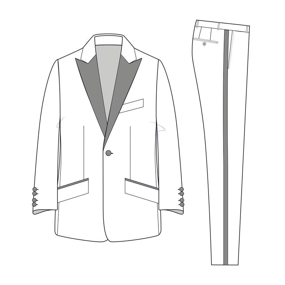 Hackett Mayfair Ev Strch Wl Tux Waistcoat 42 Charcoal