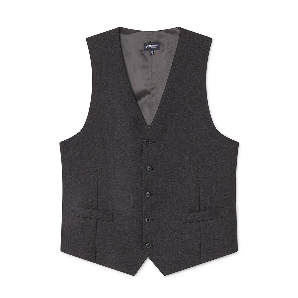 Hackett Lp Plain Wool Waistcoat 38 Charcoal