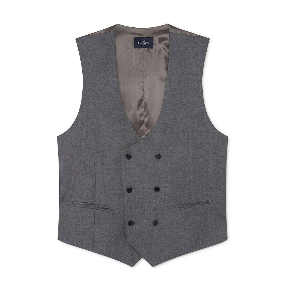 Hackett 130s Plain Wl Double Waistcoat 40 Grey