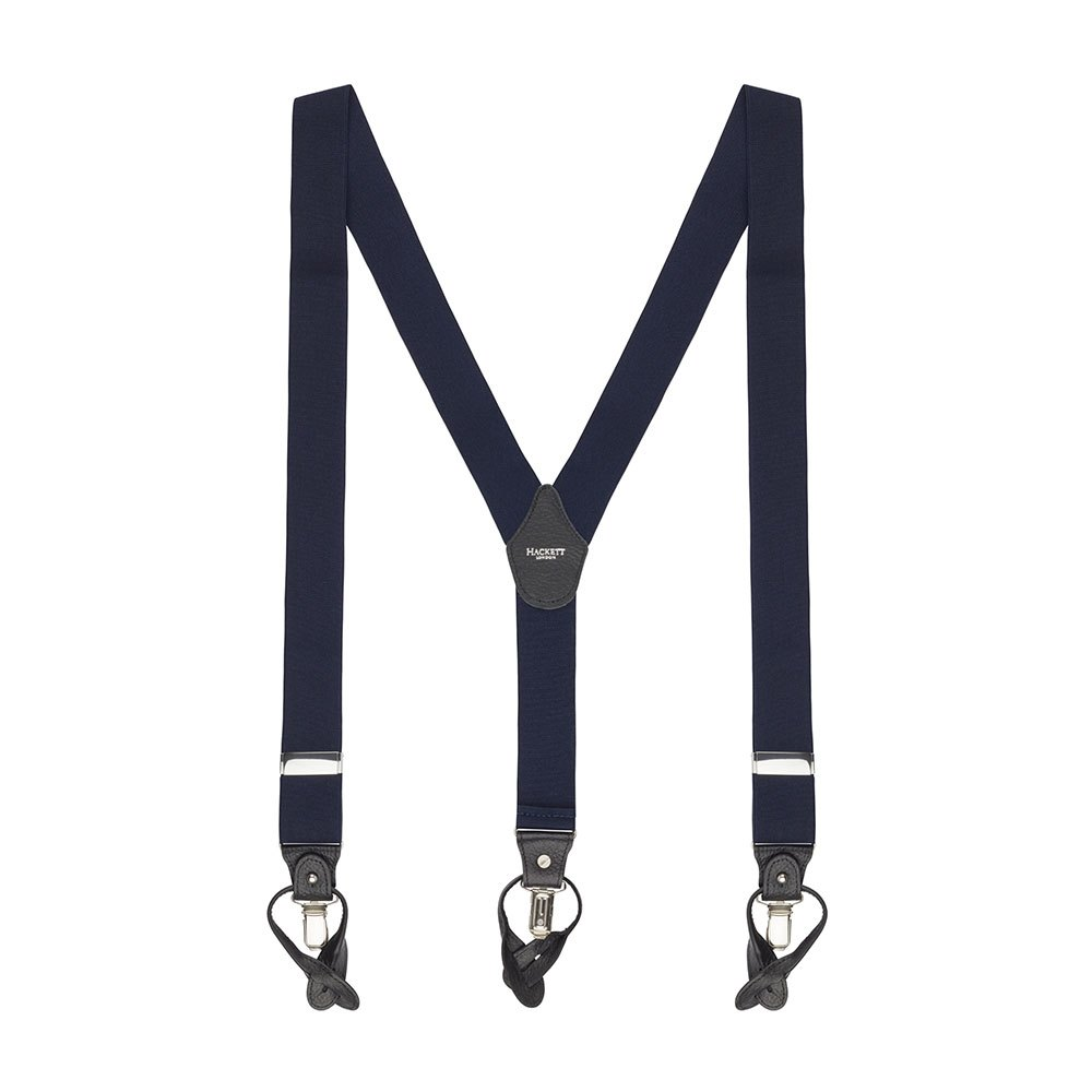 Hackett Solid Col Braces One Size Navy