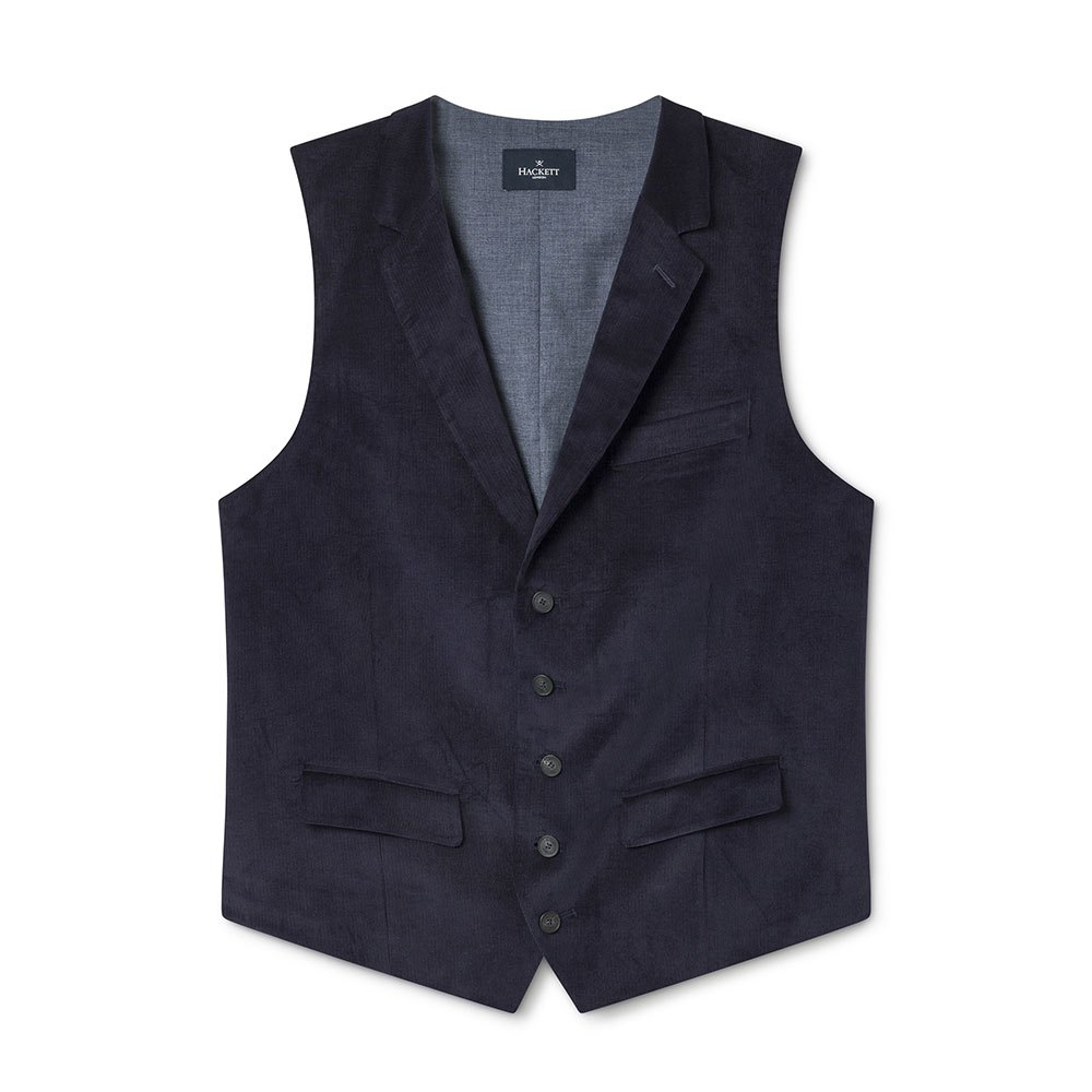 Hackett Stretch Cotton Cord Waistcoat 38 Navy