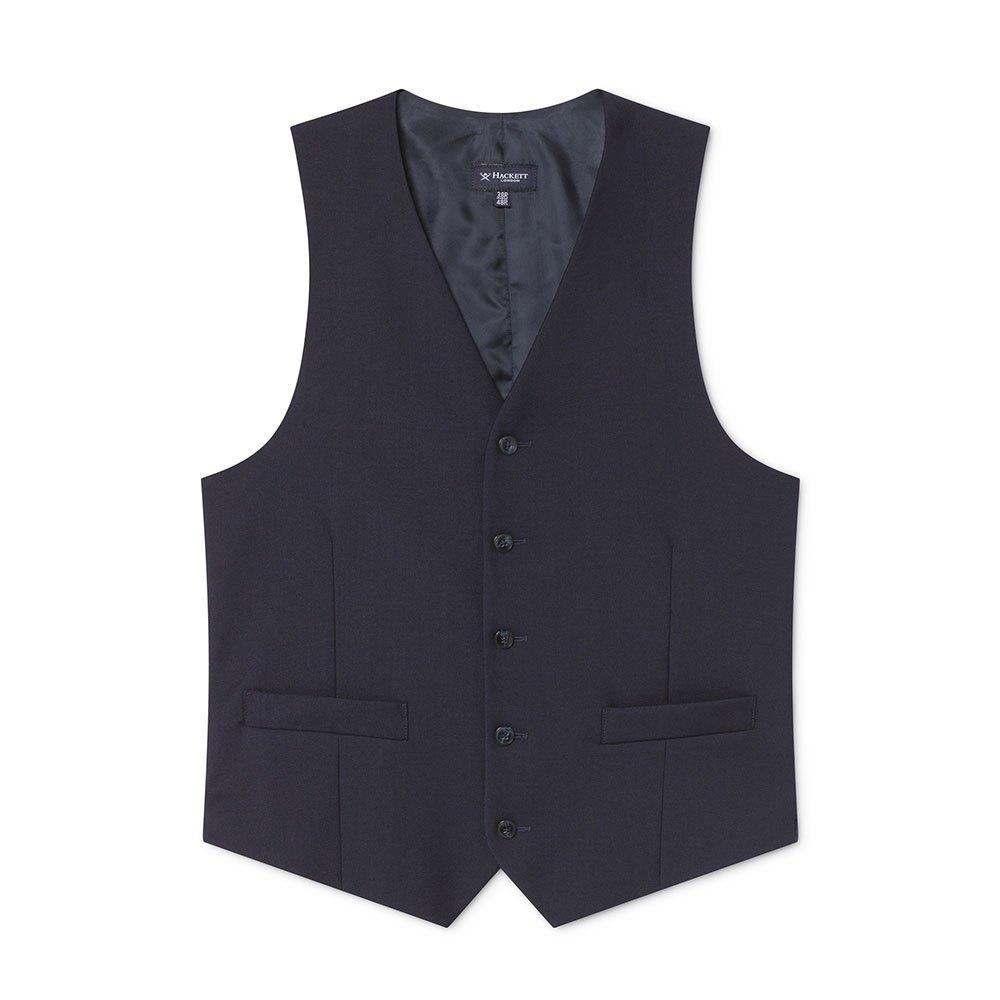 Hackett Lp Plain Wool Waistcoat 44 Navy