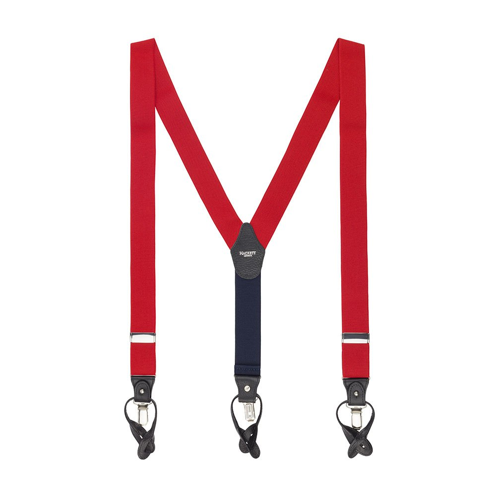 Hackett Solid Col Braces One Size Red
