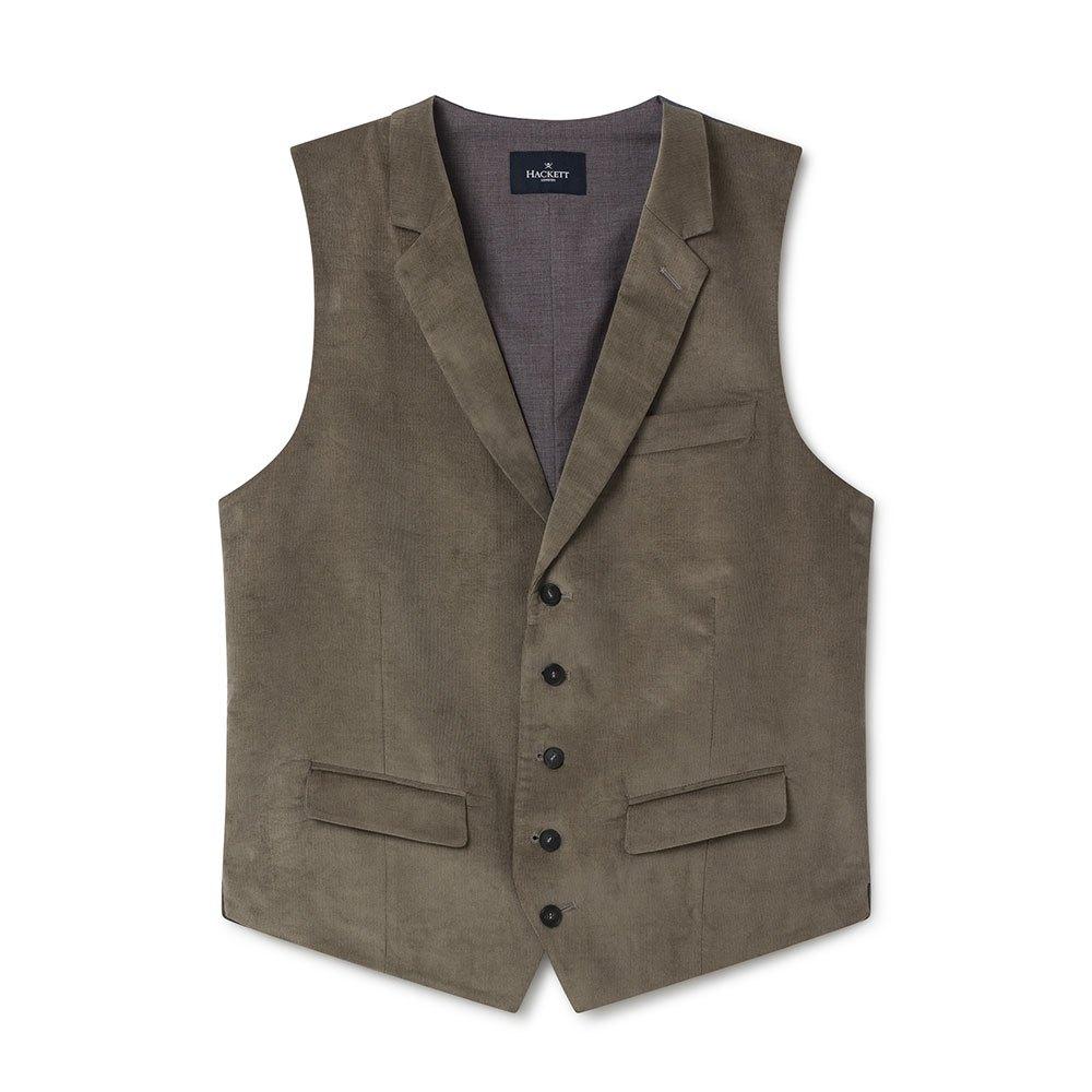 Hackett Stretch Cotton Cord Waistcoat 42 Taupe