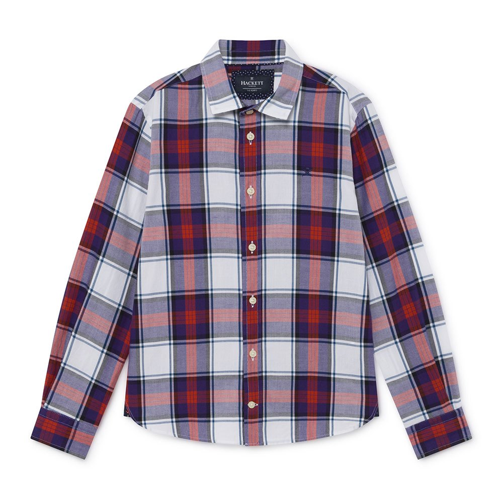 Hackett Nvy Mlt Flannel Plaid Youth 11 Years White / Multi