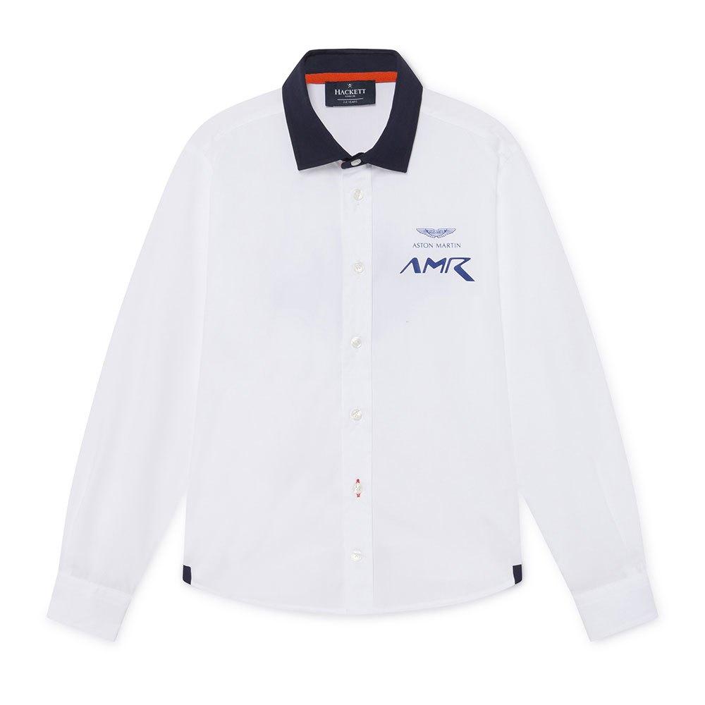 Hackett Amr Left Chest Logo Youth 13 Years White / Navy