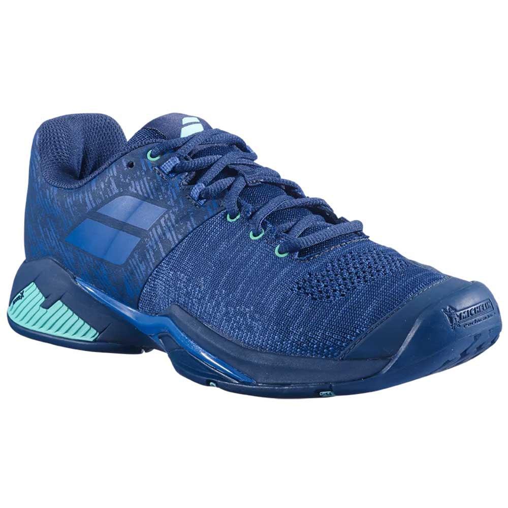 Babolat Chaussures Tous Les Courts Propulse Blast EU 44 1/2 Dark Blue / Viridian Green