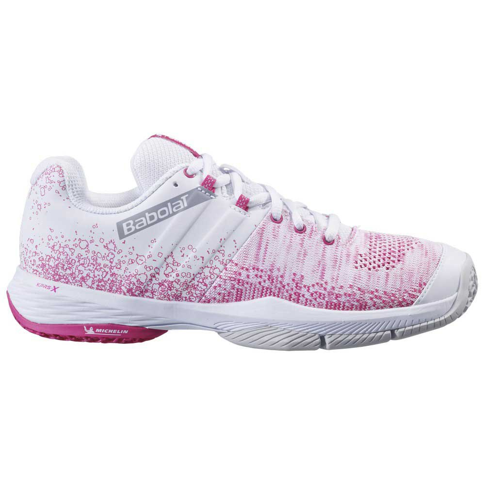 Babolat Chaussures Sensa EU 36 1/2 White / Pink Peacock