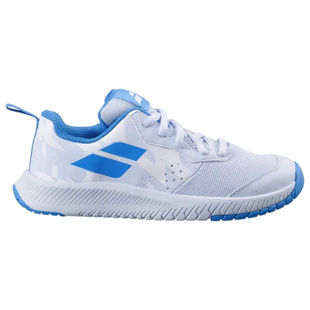 Babolat Chaussures Tous Les Courts Pulsion Junior EU 33 White / Illusion Blue