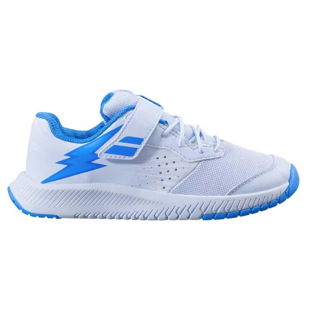 Babolat Chaussures Tous Les Courts Pulsion Enfant EU 33 White / Illusion Blue