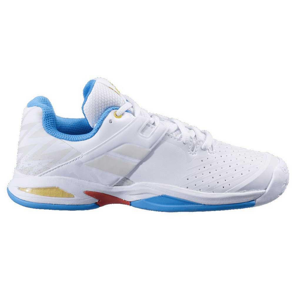 Babolat Chaussures Tous Les Courts Propulse Enfant EU 33 White / Diva Blue