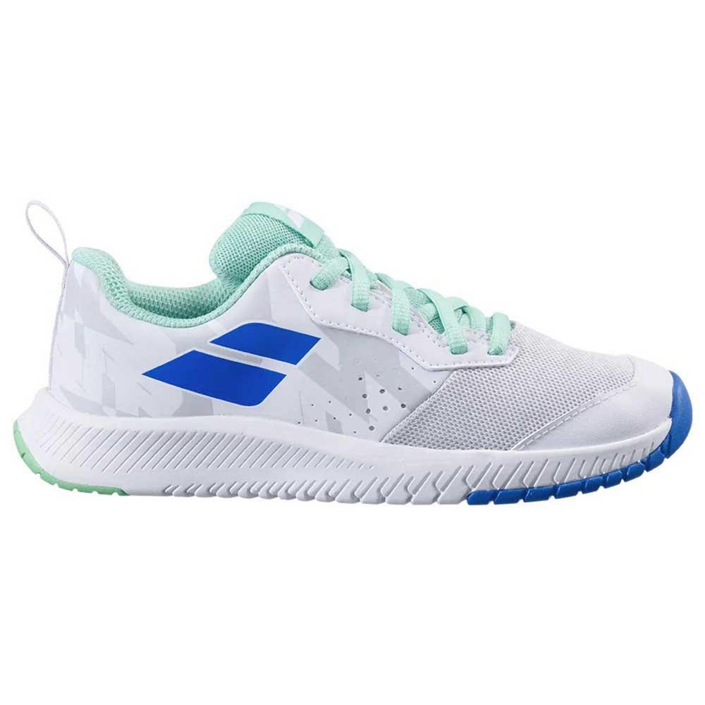 Babolat Chaussures Tous Les Courts Pulsion Enfant EU 33 White / Biscay Green