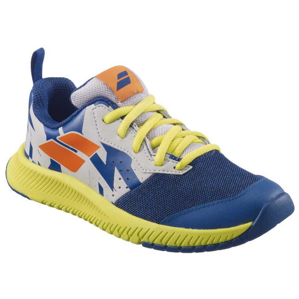 Babolat Zapatillas Todas Las Superfícies Pulsion Niño EU 33 Dark Blue / Sulphur Spring
