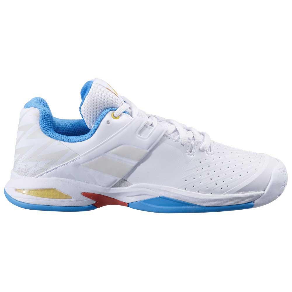 Babolat Chaussures Tous Les Courts Propulse Junior EU 38 White / Diva Blue