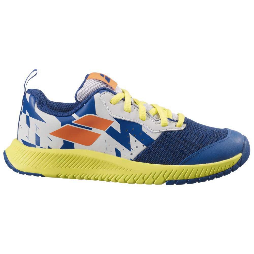 Babolat Zapatillas Todas Las Superfícies Pulsion Junior EU 36 Dark Blue / Sulphur Spring