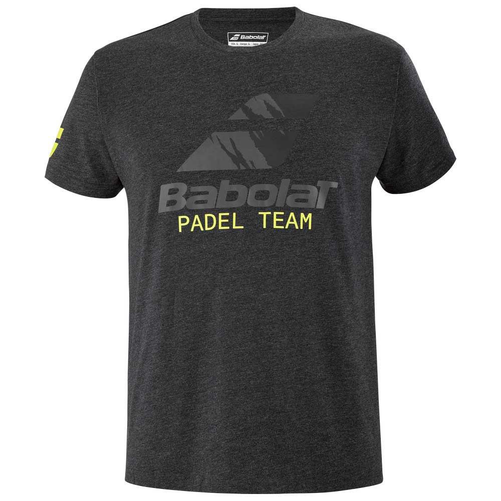 Babolat T-shirt Manche Courte Padel Team L Black Heather