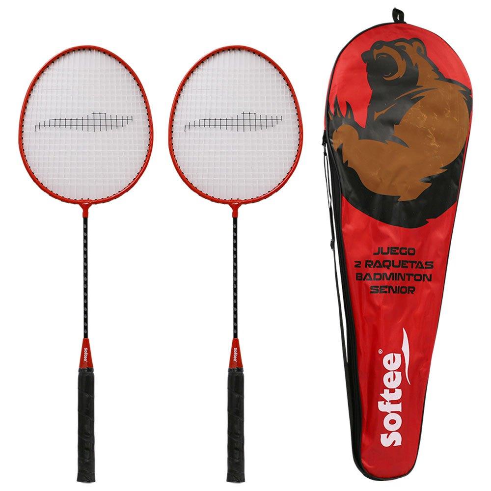 Softee Badminton Senior Set One Size Red