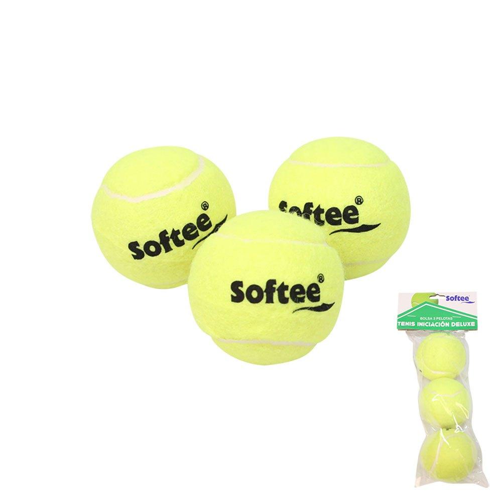 Softee Sac Balles Tennis Tennis Training 3 Balls Yellow