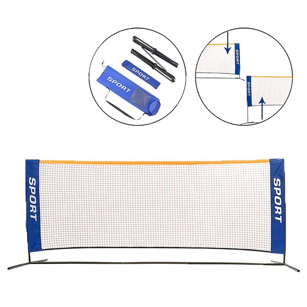 Softee Minitennis / Badminton Set 3 x 1.5 m Blue