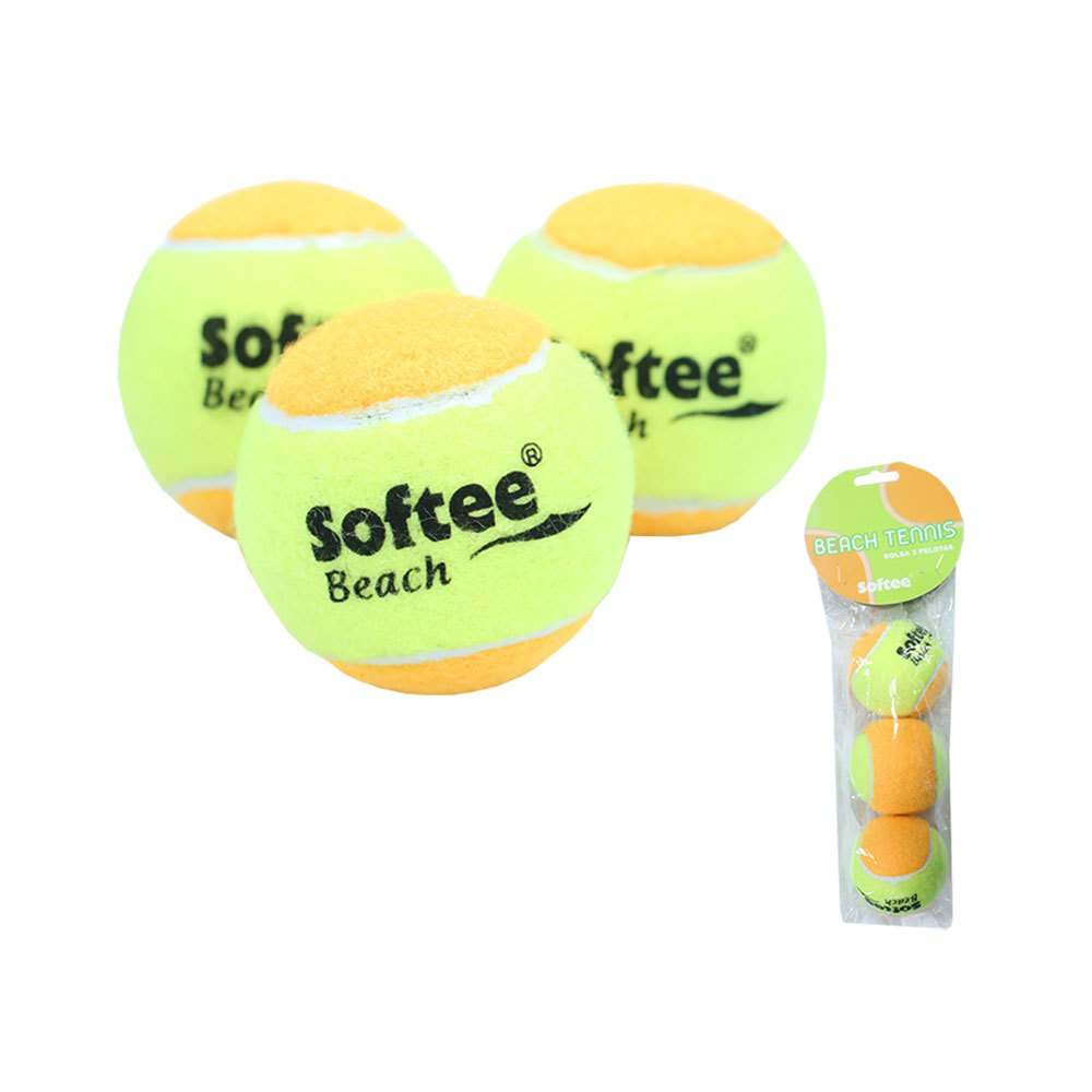 Softee Balles Tennis Beach Tennis 3 Balls Yellow / Orange