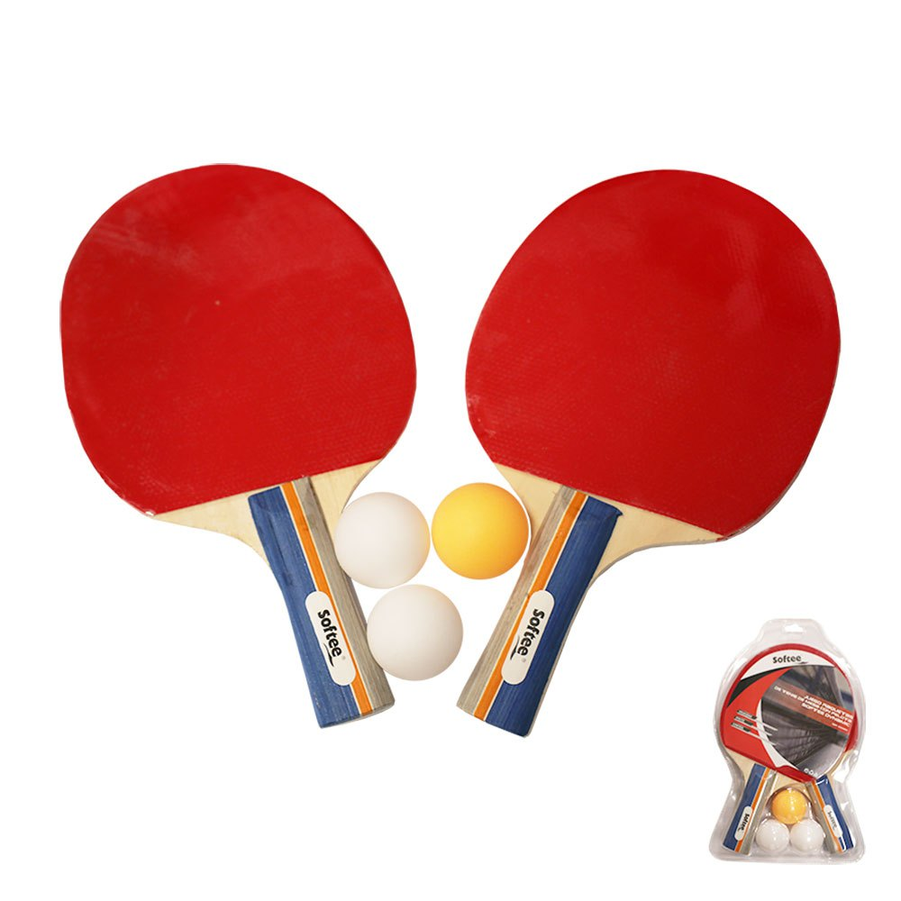 Softee Table Tennis Racket Set Dynamic One Size Red