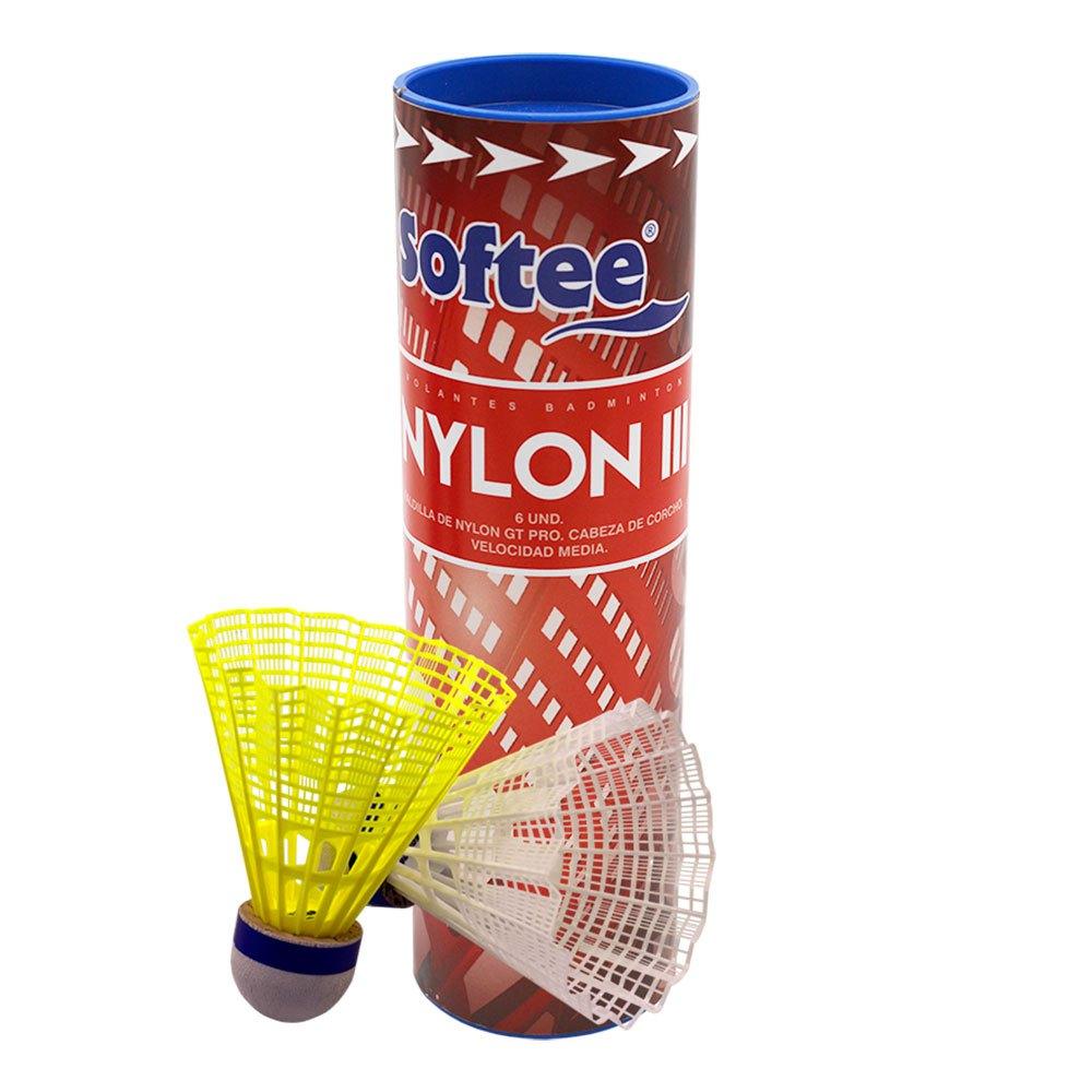 Softee Volants Badminton Nylon Iii 6 Units White