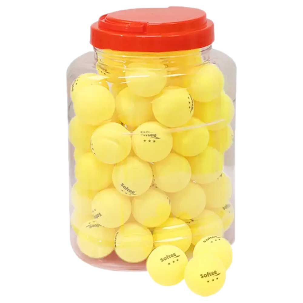 Softee Balles Tennis Table Table Tennis 40 Mm 60 Balls Yellow