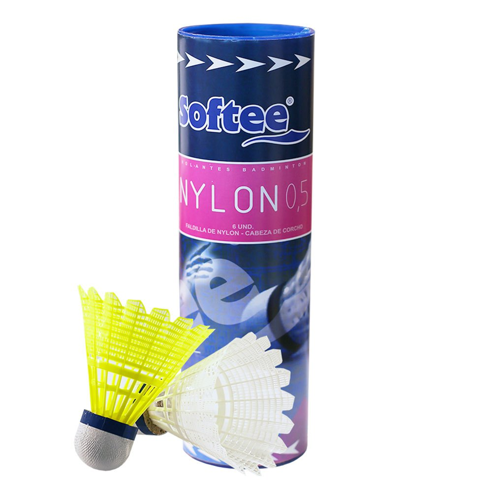 Softee Volants Badminton Nylon 0.5 77 6 Units White