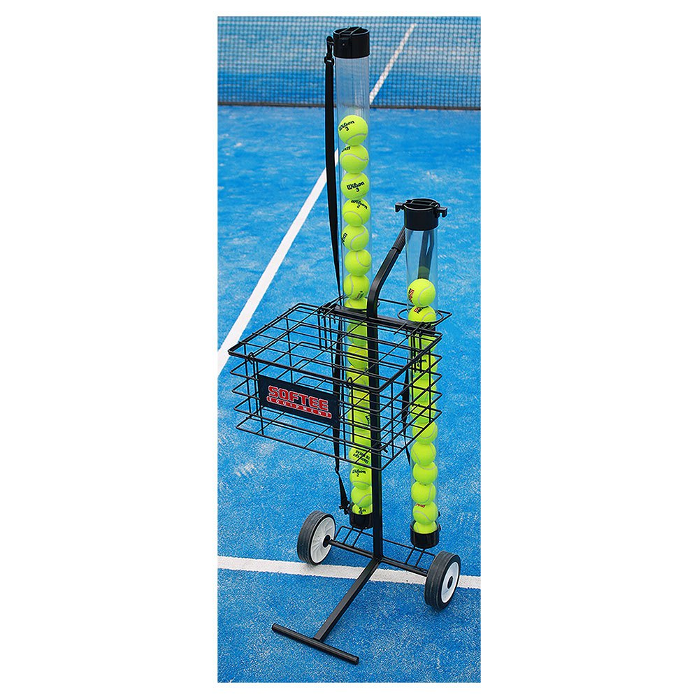 Softee Ball Cart Up to 80 Balls Black