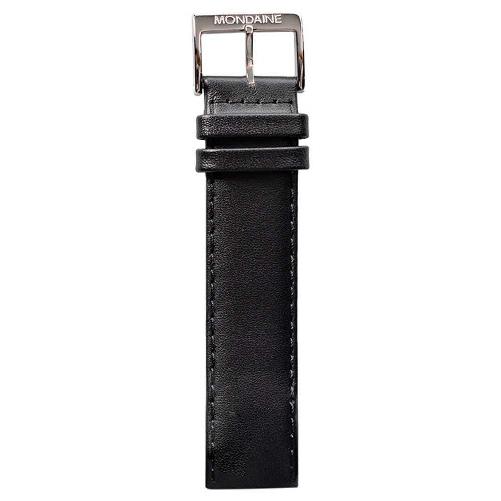 Mondaine Genuine Leather Strap For Retro Style 20 mm Black