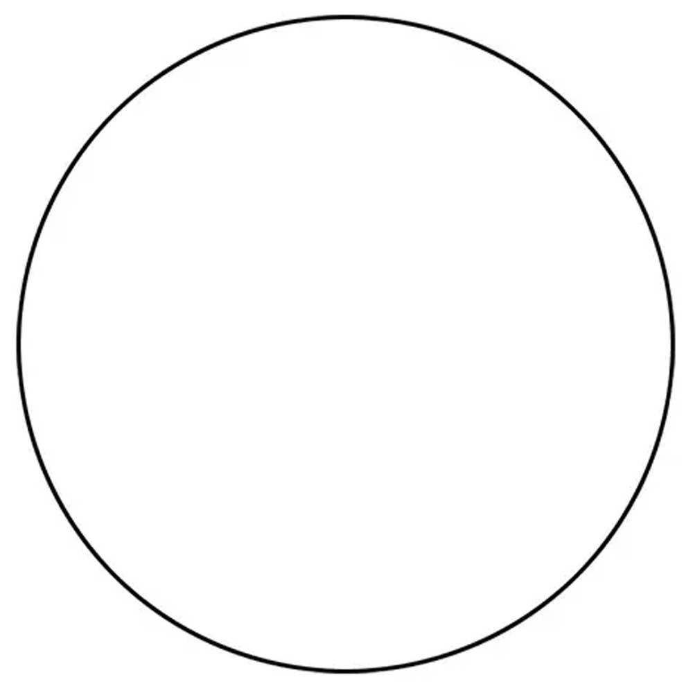 Softee Vinyle Circulaire Pour Cône 12 cm Black