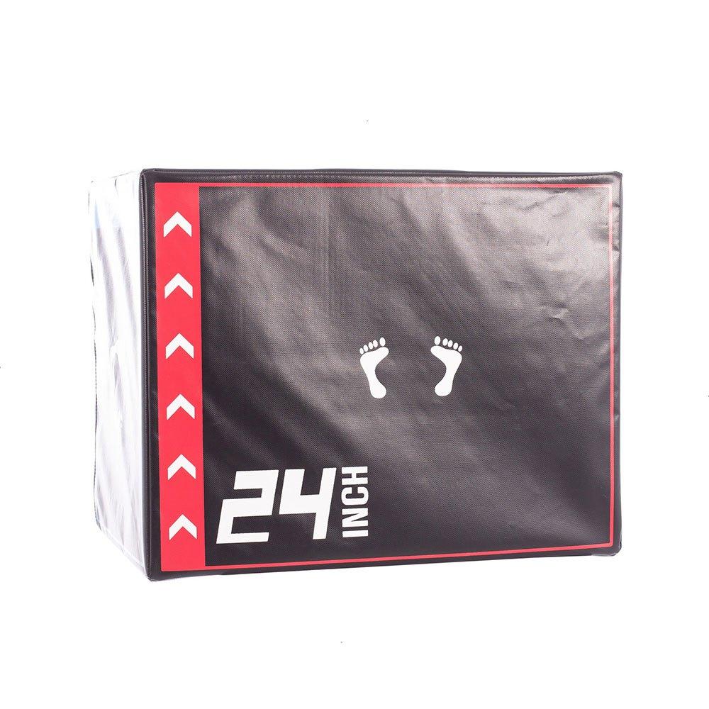 Softee Adjustable Jumping Foam Platform 70 x 70 x 15/30/45/60 cm Black