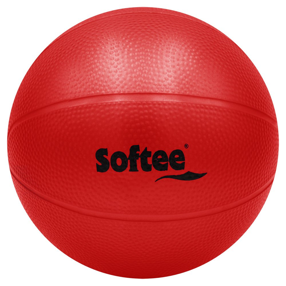 Softee Pvc Medicine Ball Water Rough 2.5 Kg 2.5 Kg Red