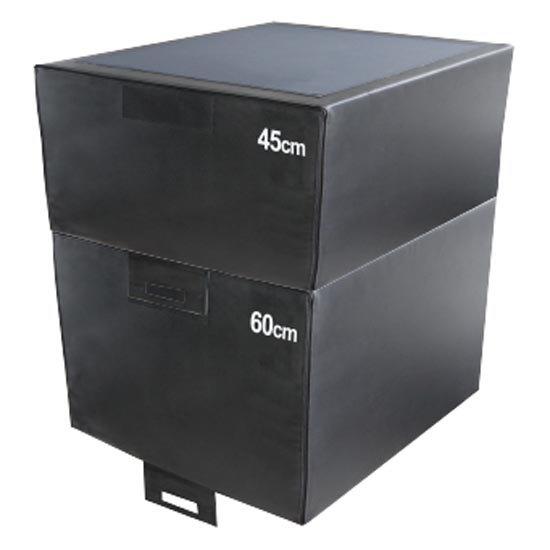 Softee Adjustable Jumping Platform 70 x 70 x 15 cm Black