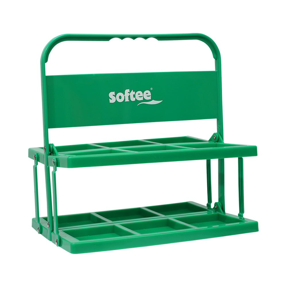 Softee Foldable Carrier For 6 Bottles One Size Green