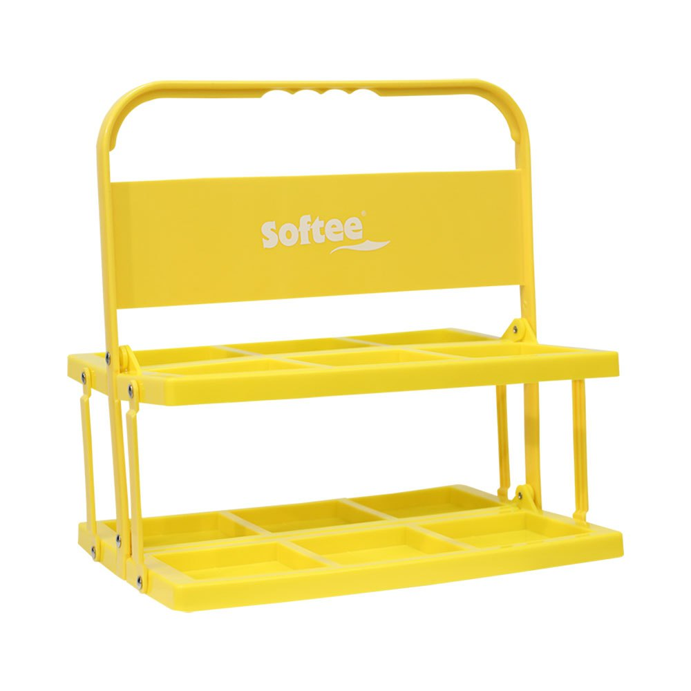 Softee Foldable Carrier For 6 Bottles One Size Yellow