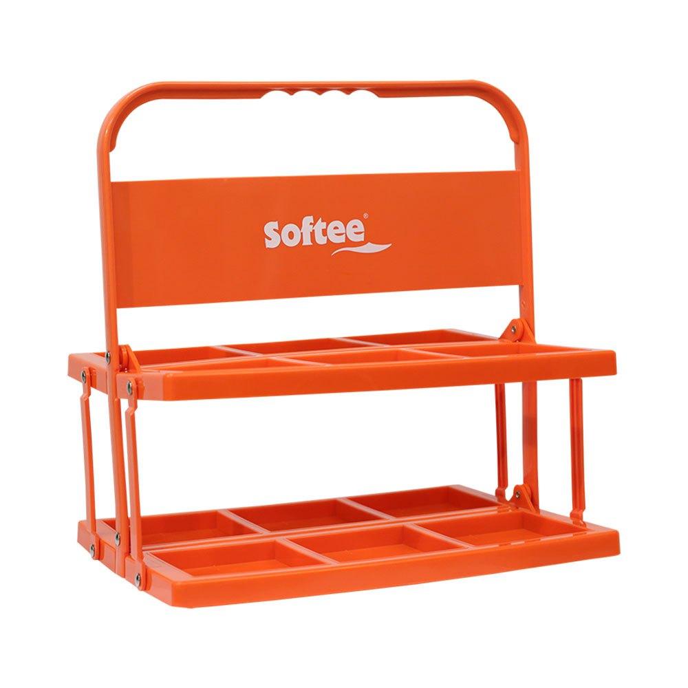 Softee Foldable Carrier For 6 Bottles One Size Orange Fluor