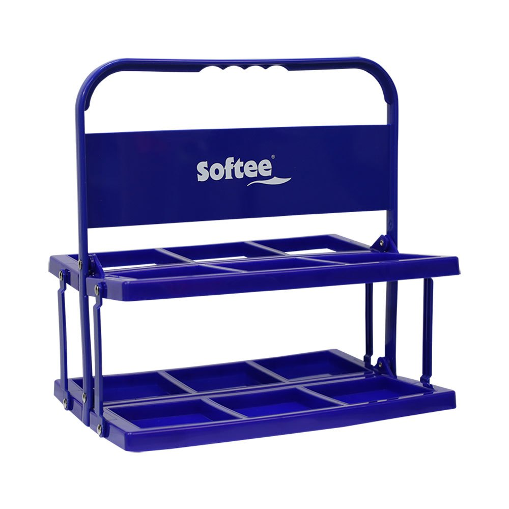 Softee Foldable Carrier For 6 Bottles One Size Blue