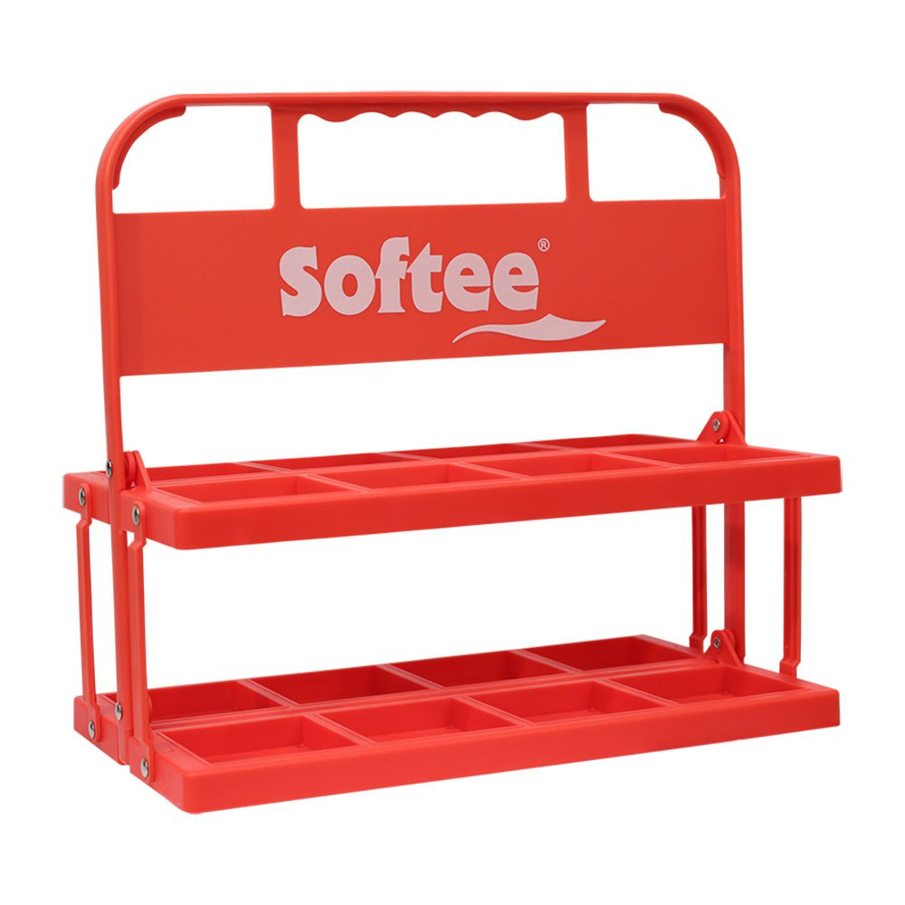 Softee Foldable Carrier For 6 Bottles One Size Red