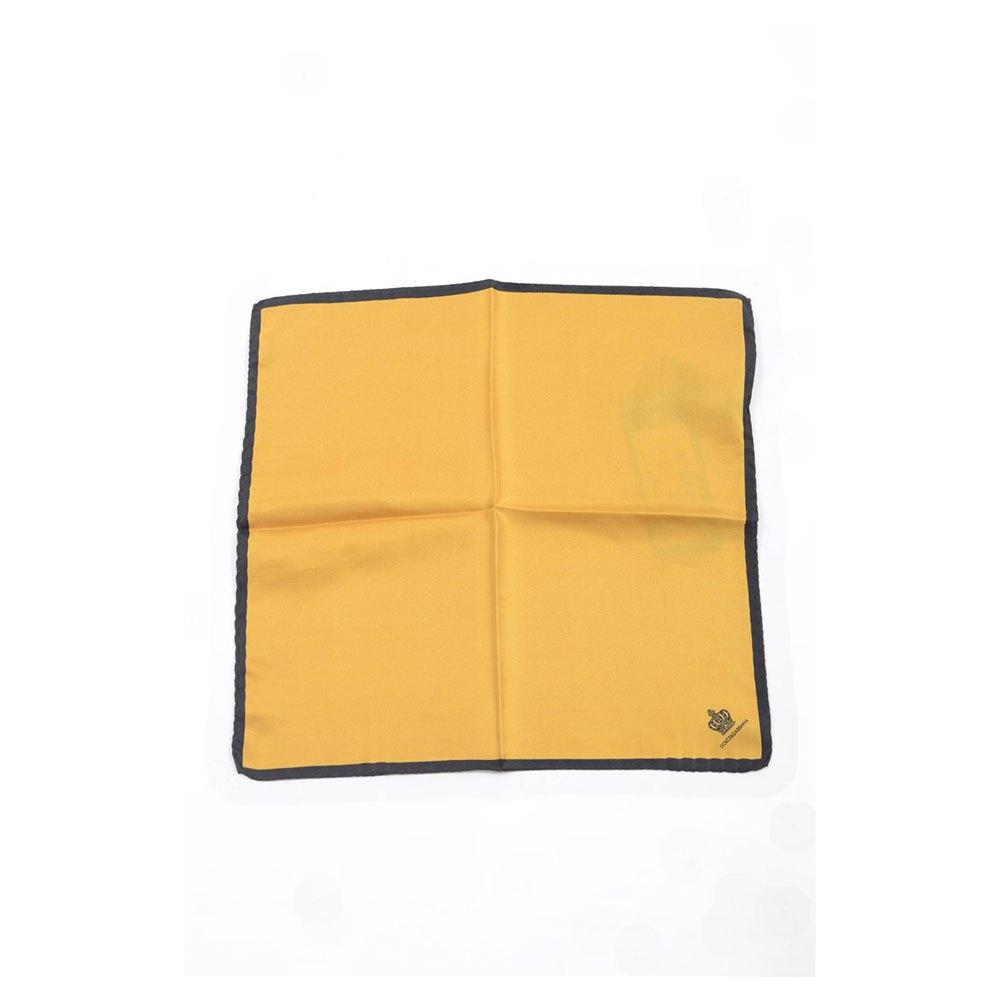 Dolce & Gabbana 713617 Silk Handerkerchief One Size Dark Yellow